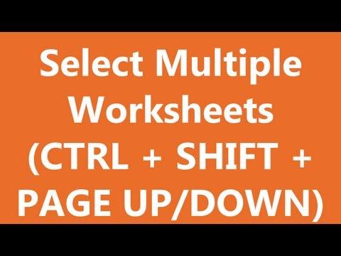 Excel Shortcuts - Select Multiple Worksheets