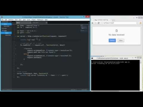 node js   server   request url and html response 720p