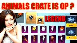 PUBG KR CRATE OPENING WITH ANIMALS CRATE IS OP😱 | PUBG KR MOBILE