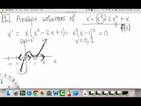 Autonomous Equations & Stability   Example 1   Differential Equations   Griti