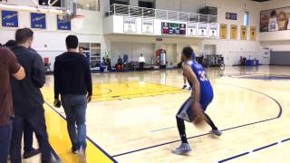Stephen Curry shooting routine, Warriors (1-0) morning shootaround before Game 2 vs Blazers
