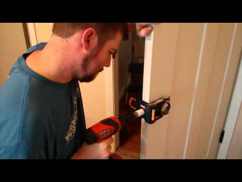 Drilling Latch Bore Hole in Door