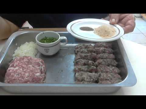 Cyprus sheftalia, by Chef Andros.