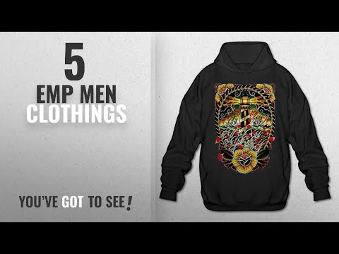 Top 10 Emp Men Clothings [ Winter 2018 ]: Lighthouse Cool Tattoo EMP Men's Hip Hop Pullover Hooded