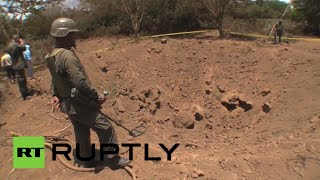 Meteorite crater footage: Asteroid fragment blows huge hole in Nicaraguan capital