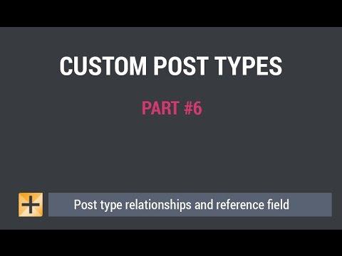 WordPress Custom Post Types and Custom Fields - Part #6 - Reference fields