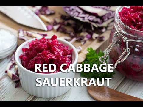 How to make Red Cabbage Sauerkraut - The Healthy Tart
