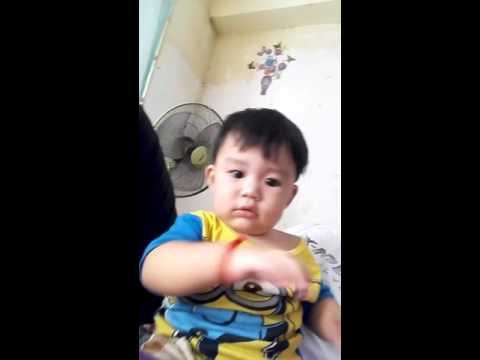 Cute baby learn to speak