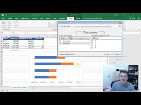 Microsoft Excel Timeline Gantt Chart