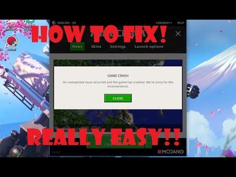 New Minecraft Launcher Crashing ~ Fixed! | 2017