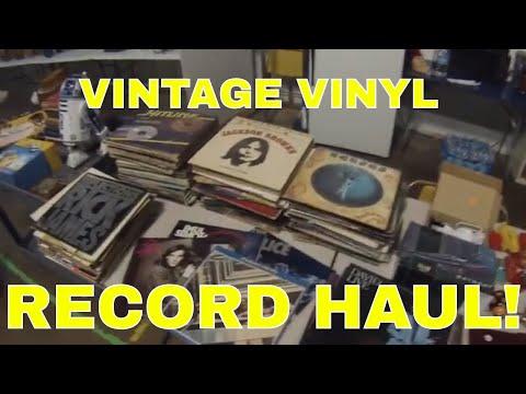 Vintage Vinyl HAUL & Using PirateShip