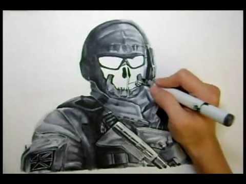 Modern Warfare 2: Ghost Drawing