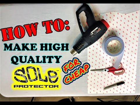 *TUTORIAL* DIY & Install High Quality SOLE PROTECTOR With GRIP For Cheap!! | FIT ANY SHOE!