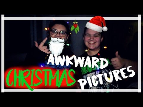 REENACTING AWKWARD CHRISTMAS  PICTURES  w\ my friends!