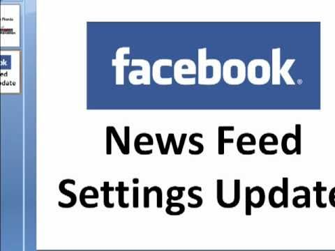 Facebook News Feed Settings Update