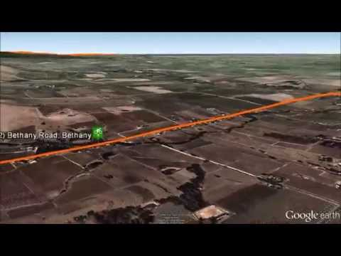 Tour Down Under 2014 stage 1 Google Earth fly over video