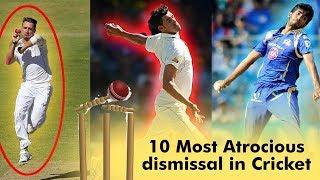 10 Most Atrocious dismissal in Cricket | Simbly Chumma