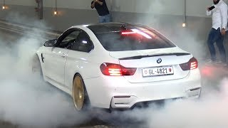 Tuned BMW M4 & M3 F80 with Straight Pipes! - Burnouts, LOUD Revs & Accelerations!