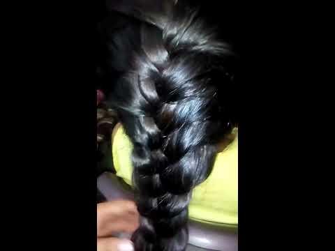 Easy French braid /How to make  thin braid looks thick