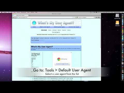 How to change your User Agent in FireFox (Windows or Mac)