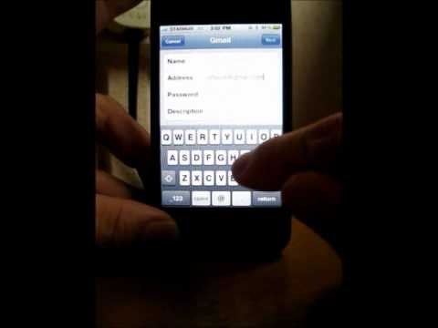 How to setup E-mail account on IPhone 5 / 4S / 4 / 3GS- review