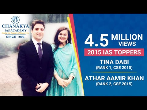 2 toppers of CSE 2015 - Tina Dabi (AIR 1) and Athar Aamir (AIR 2) revealed mantras to success