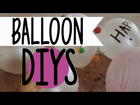 5 DIY BALLOON DECORATIONS