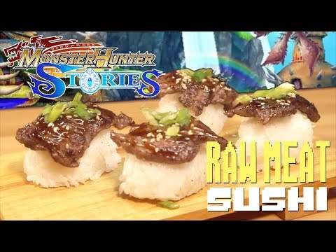 Monster Hunter Stories - How to Make Raw Meat Sushi