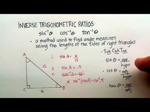 Triangles: Inverse Trigonometric Ratios