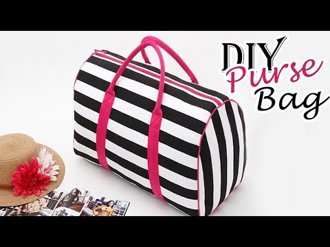DIY PURSE BAG | Zipper Cute Summer Striped HandBag Just In Hour