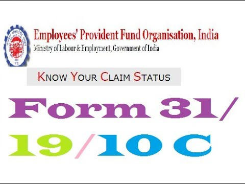 How To Online Track EPF/PF Form 31/19/10C Withdraw Claim / HD 720P,1080P