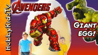 Giant HULKBUSTER IronMans Suit as a Surprise Egg!