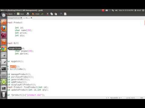 Shopping Cart application in C using Structure & File I/O