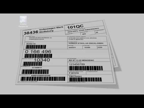 Print VDA-4902, AIAG, Galia, etc. Labels with TFORMer Designer