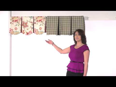 Valance : Inverted Pleat & Scalloped Inverted Pleat)