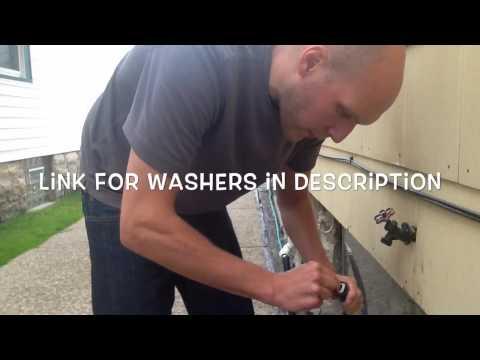 Leaky garden hose fix
