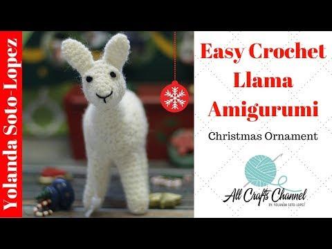 Crochet Llama Amigurumi Ornament #Llama
