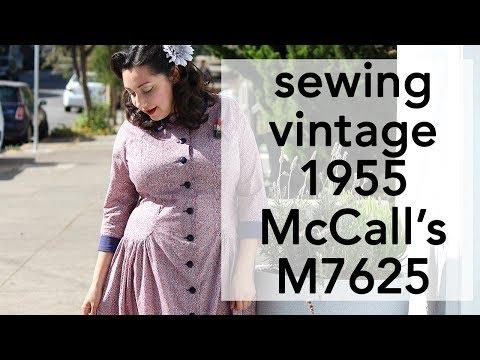 Sewing Vintage 1950s McCall's 7625   Vintage on Tap