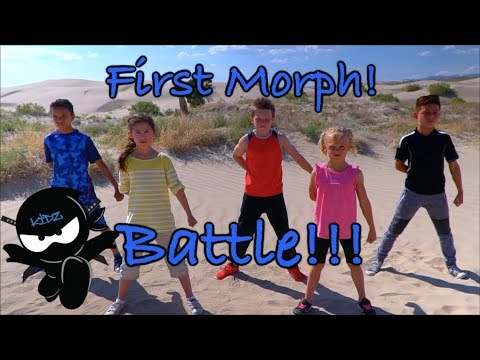 Ninja Kidz First Morphed Battle!  New Bonus Scene Included!