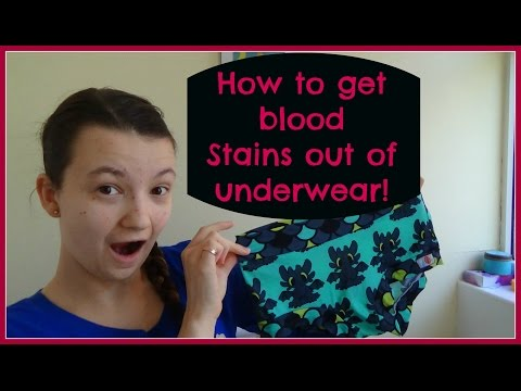 How to get blood stains out of underwear
