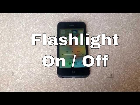 How to turn the led light / flashlight on and off iPhone 4S, 5, 5c, 5s