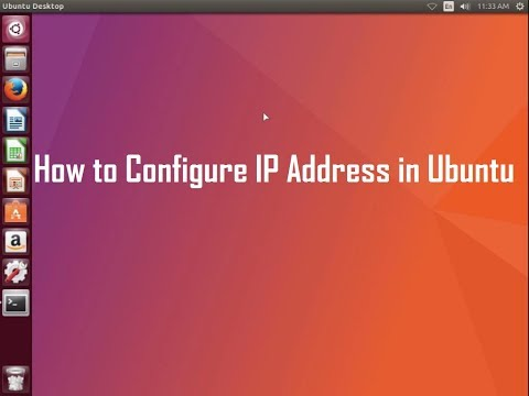 How to configure ip address in ubuntu linux