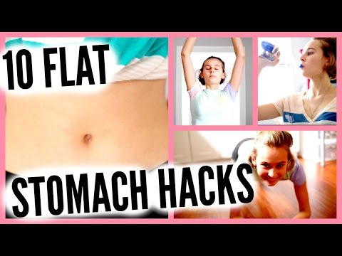 10 FLAT STOMACH HACKS: HACKS TO GET YOU A FLAT STOMACH INSTANTLY