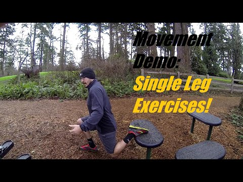 Single leg exercises demo - Get your legs in shape!