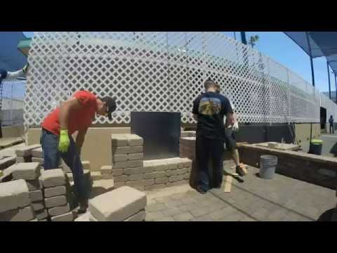 Constructing a Semplice Outdoor Fireplace Kit