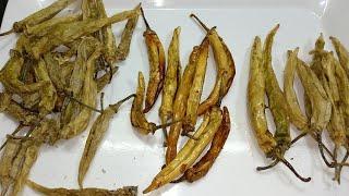 Dahi mirchi -Sandgi mirchi | Dry curd chillies