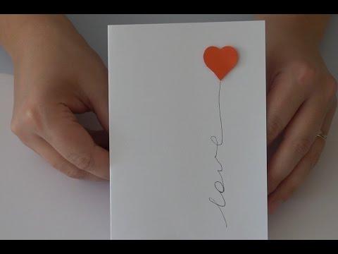Easy DIY Love card. Handmade card for boyfriend.  Valentine's day card!