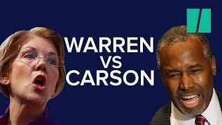 Elizabeth Warren Tells Ben Carson He Should Be