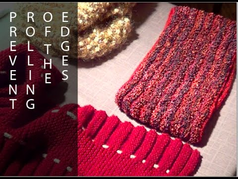 Prevent Rolling of The Edges - Knitting Trick