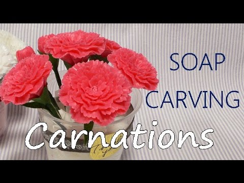 SOAP CARVING| Carnation Arrangement | Tutorial | How to make |